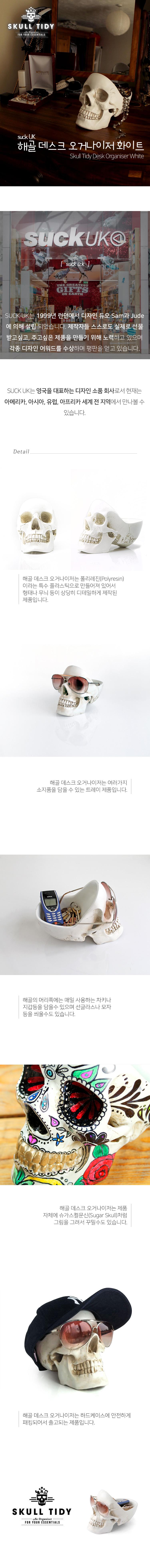 썩유케이 화이트 스컬 오거나이저 - 원더스토어, 79,000원, 데스크정리, 파티션/선반